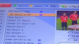 تردد قناة ابو ظبي سبورت 1 و2