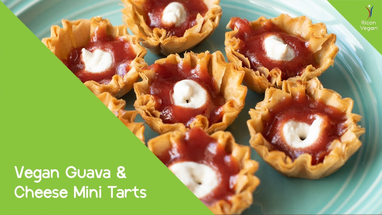 Vegan Guava and Cheese Mini Tarts | Rican Vegan