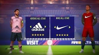 TEAM ADIDAS vs TEAM NIKE sur FIFA 18 !