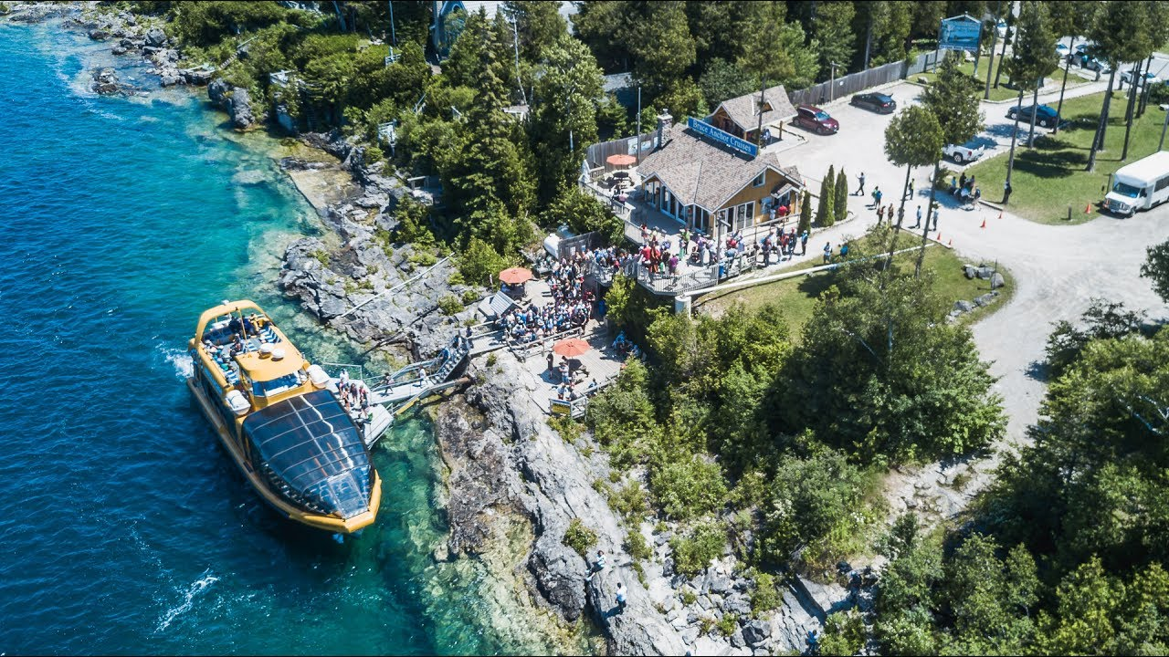 Bruce Anchor Cruises - Take a Glass-Bottom Boat Tour and visit Flowerpot Island!
