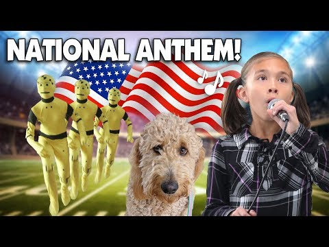 JILLIAN SINGS THE NATIONAL ANTHEM Morning Routine Crash Test Dummy &  Chloe Haircut