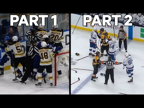 NHL Fights Of The Week: Bruins & Lightning Have Two Line Brawls In One Week!