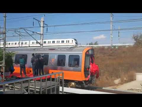 CRRC demonstrates Orange Line car for the MBTA