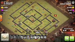 Best TH10 Attack Strategy-Hogs| Clash Of Clans guide to hogs attack for TH10 Post Update
