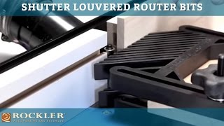 Rockler Shutter Louvered Router Bits
