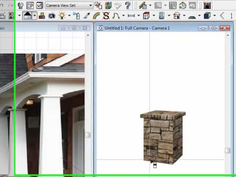 Building a craftsman style column in chief architect youtube for How to build craftsman porch columns