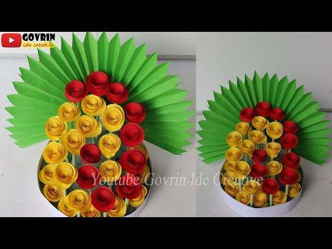 Wall Decor - Paper Flowers Bouquet | Ide Mudah Membuat Bouquet dari kertas - bunga hias simple