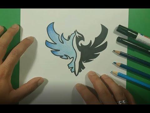 Como dibujar un fenix paso a paso | How to draw a phoenix