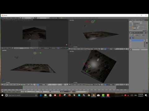 Placing solar panel on landscape image in Blender for Nexus