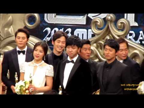 [12.30.13]Ha Ji Won- Lee Seung Gi 2013 MBC drama awards BTS