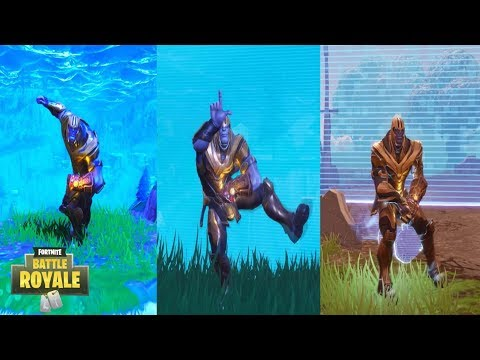 Thanos Fortnite Emots Fortnite Thanos Dances Emotes Orange Justice Take The L Etc