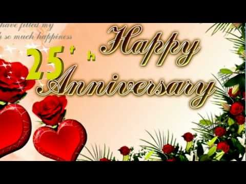 Happy 25th Anniversary Greeting Card, Ecard