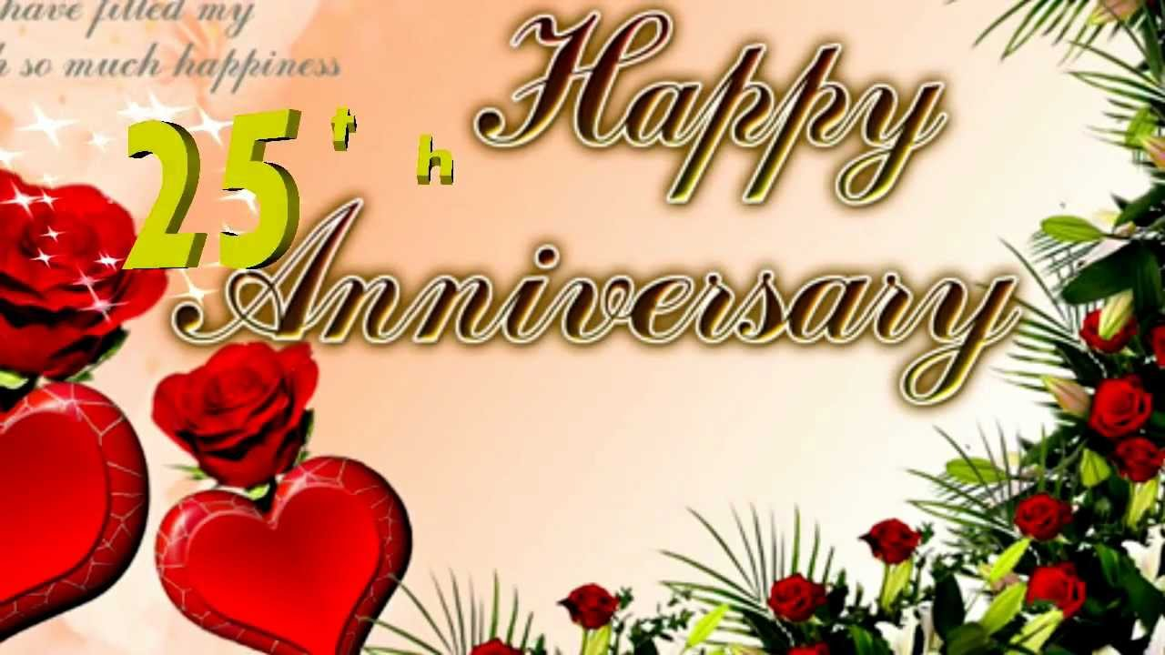 Happy 25th Anniversary Greeting Card, Ecard - YouTube