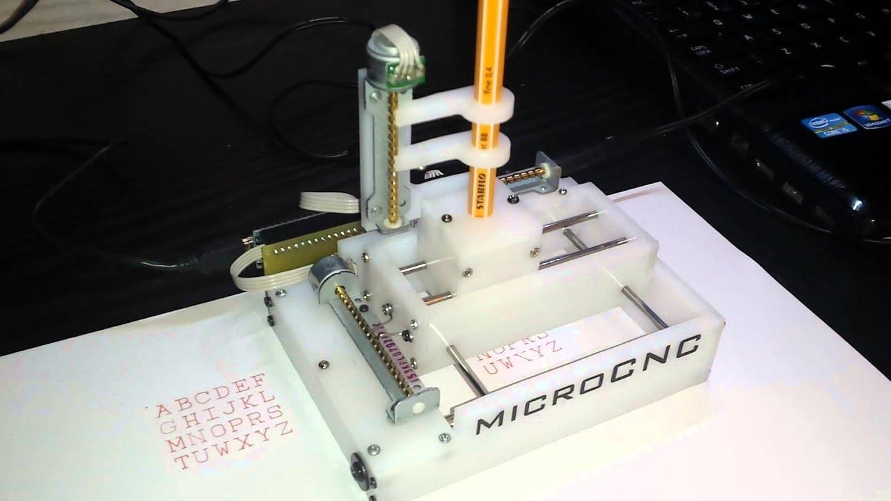 Micro mini cnc plotter grbl arduino controlled youtube