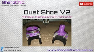Dust Shoe V2 - 65mm CNC Dust shoe with magnetic front cover