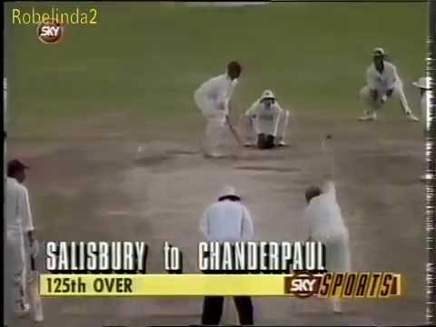 19 yr old Shivnarine Chanderpaul TEST DEBUT vs England 1994