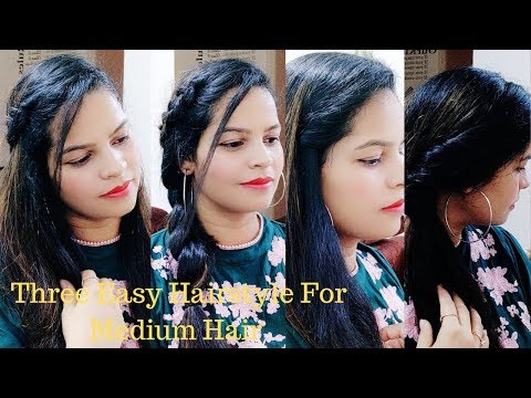 everyday hairstyle for medium to long hair 2019 by prishu lifestyle thumbnail
