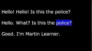English USA, Lesson 09 - Part 1 - Directions  - Stolen Car