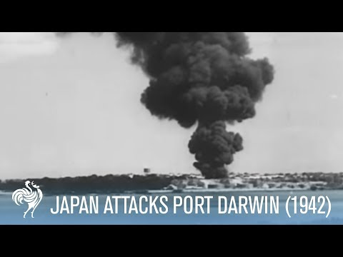 Japanese Bombers Attack Port Darwin Australia (1942) | War Archives