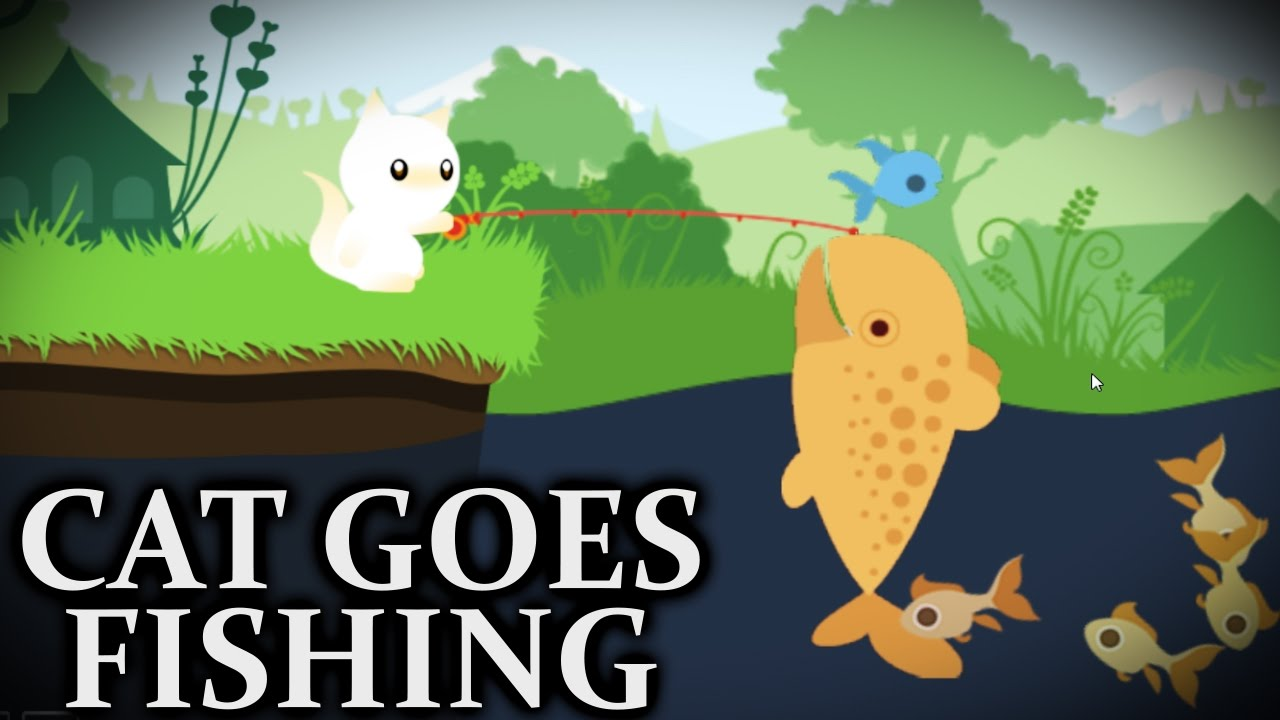 cowfish cat goes fishing youtube