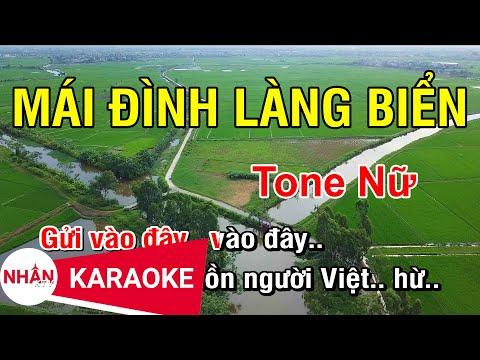 Mái Đình Làng Biển (Karaoke Beat) - Tone Nữ