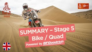 Summary - Bike/Quad - Stage 5 (Moquegua / Arequipa) - Dakar 2019