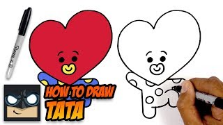 HOW TO DRAW BT21 | TATA | STEP BY STEP TUTORIAL