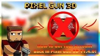 Pixel Gun 3D: How To Get Your Account Back! (No Root/100% Working!)