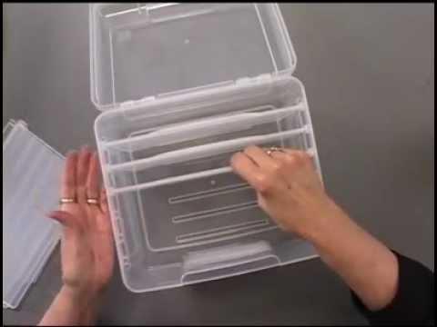 Plastic Card Storage Case By Iris USA