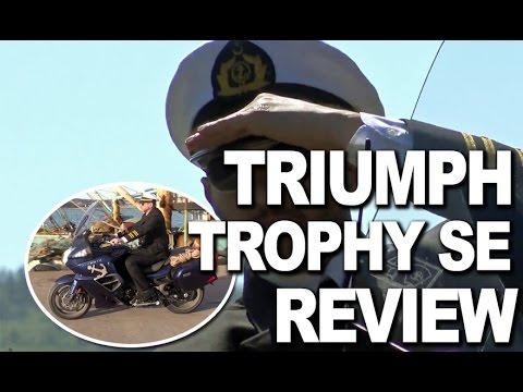 triumph trophy se review - youtube
