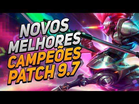 NOVOS MELHORES CAMPEÕES DO PATCH 9.7, HECARIM TOP?!! - League of Legends thumbnail