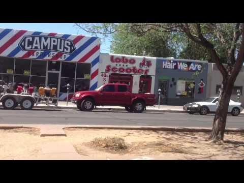 Drive downtown Albuquerque, NM.  Route 66 New Mexico