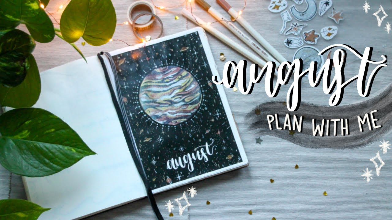 bullet journal PLAN WITH ME + flip through for august 2020