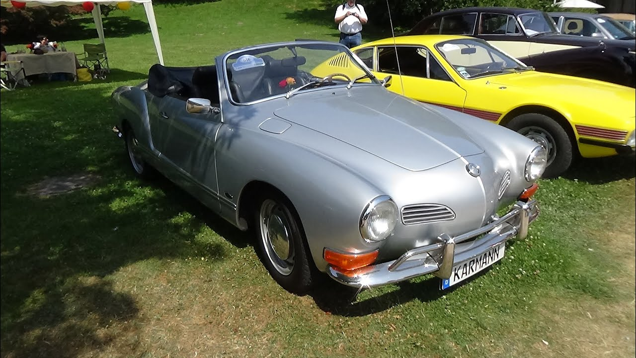 1971 volkswagen karmann ghia 14 cabrio exterior and interior oldtimer meeting baden baden. Black Bedroom Furniture Sets. Home Design Ideas