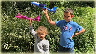 Unboxing & Review | EPP Foam Hand Throw Airplane Model Glider Plane Kids Toys