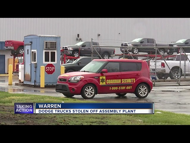 Nine brand new trucks stolen from Fiat Chrysler storage lot in Warren
