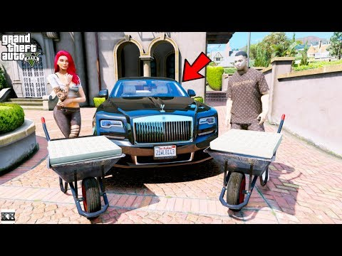 GTA 5- Buying A Rolls Royce Using Only $1 Bills (GTA 5 Real Life Mods #30)