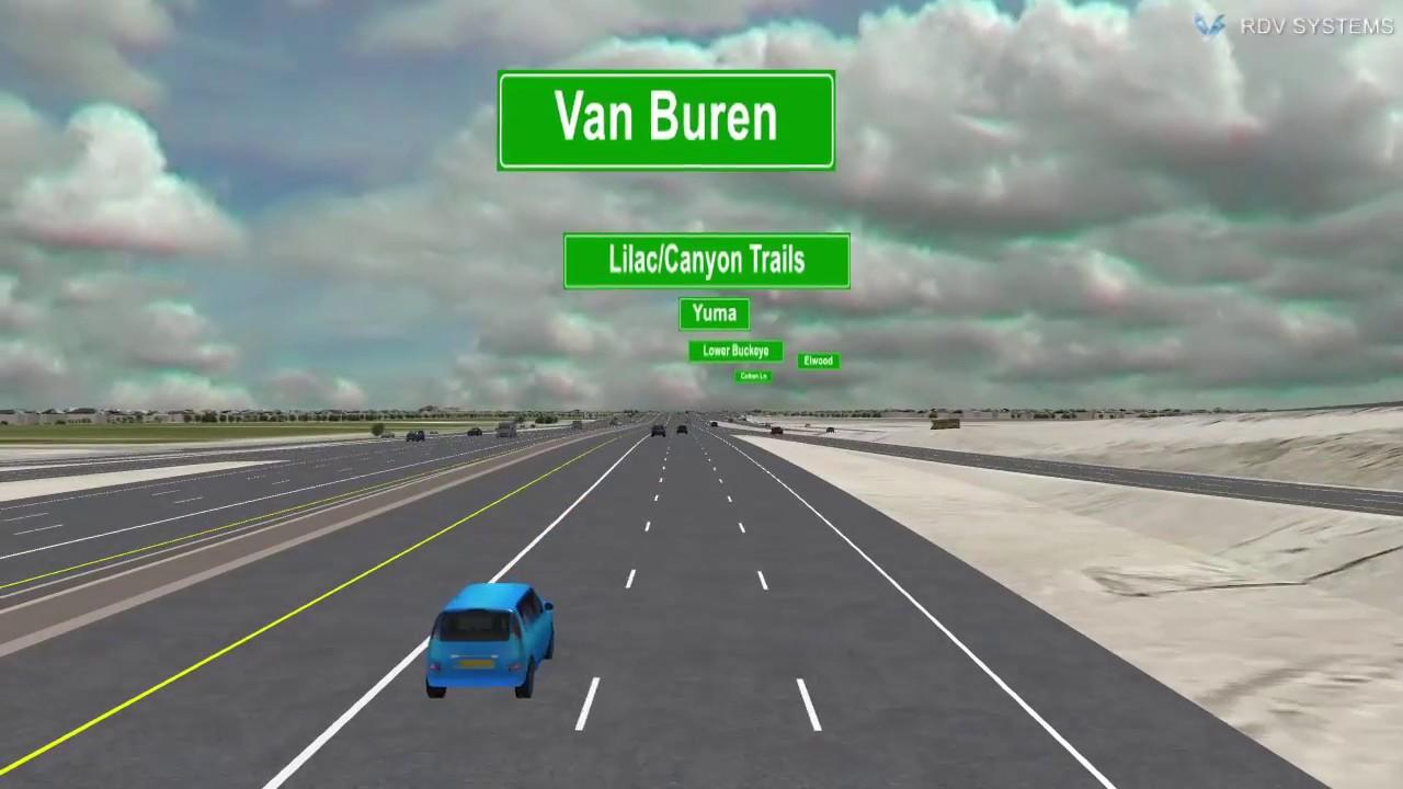 Map Of Loop 303 Arizona.Loop 303 Freeway Design Driving Southbound