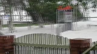 Cyclone Debbie Causes Foam to Fly Through Sarina Beach
