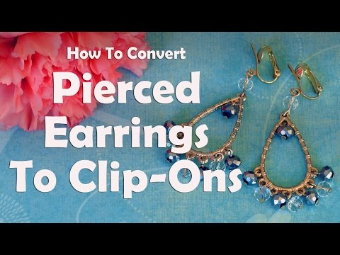 Diy Jewelry Repair How To Convert Pierced Earrings To Clip Ons