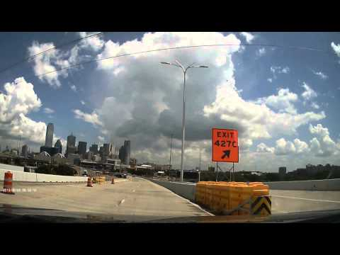 Top Dawg EagleEye 1080P Dash Cam Day Video - Downtown Dallas