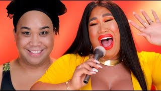 ORANGE SUMMER MAKEUP TUTORIAL & NEW BREASTS! | PatrickStarrr
