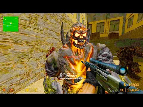 Counter Strike Source - Zombie Riot Mod Online Gameplay On Jatapur Map