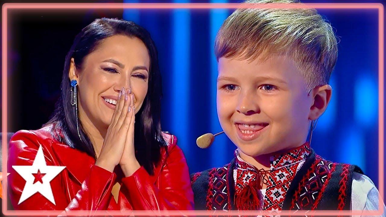 Cutest Kid On Romanii Au Talent Melts Judges Hearts Kids Got Talent Youtube
