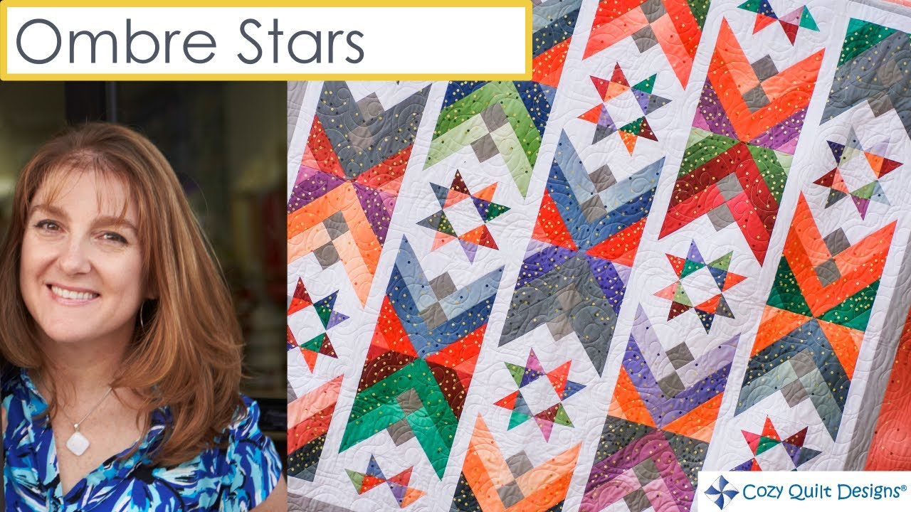 SHARYN/'S STARS QUILT QUILTING PATTERN From Cozy Quilt Designs NEW