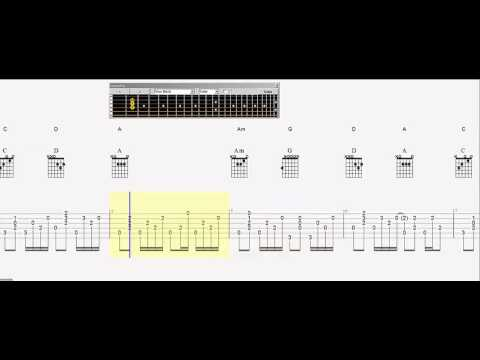 Guitar Tab Little Black Submarines Slow Play Along Youtube