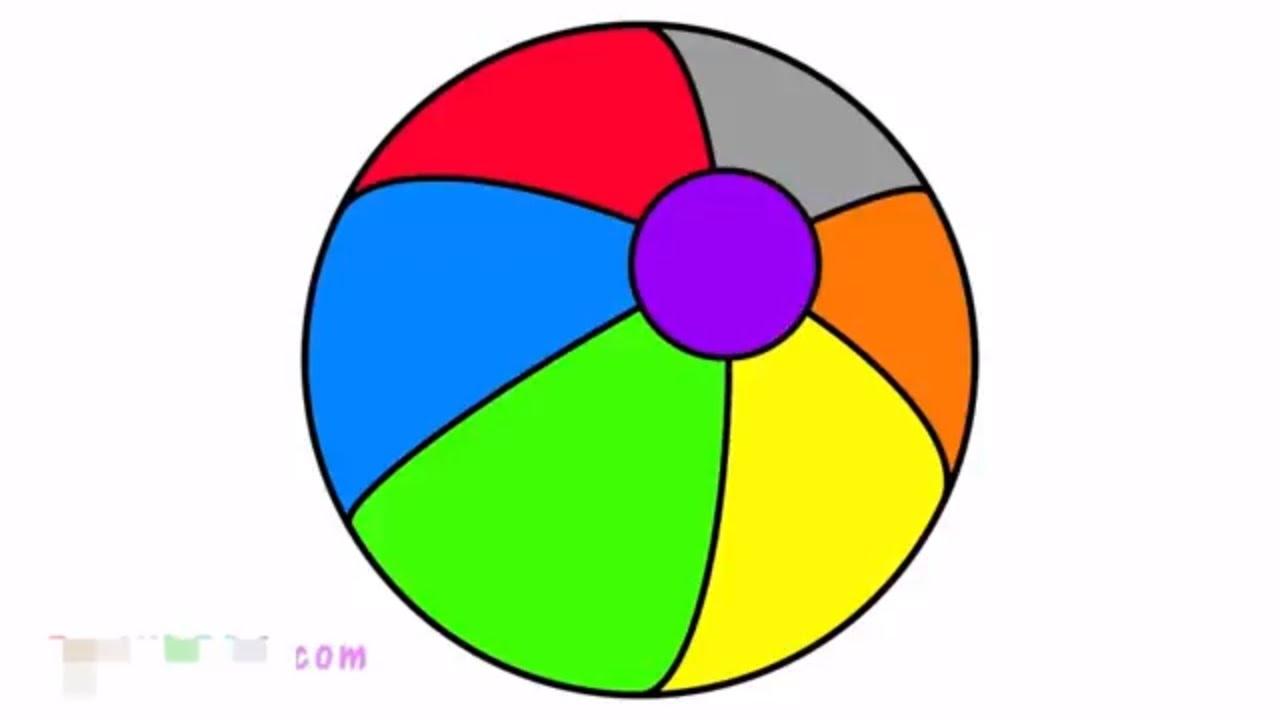 Aprender Colores Bebs Con Pelota De Playa Y El Helado Dibujos