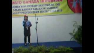 Repeat youtube video Anggi lomba pidato Bhs Indonesia tingkat propinsi