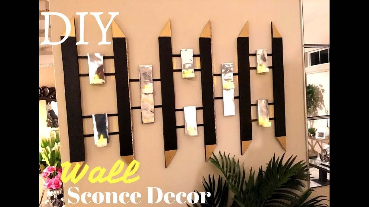 Diy Wall Sconce Home Decor Using Boxes Youtube