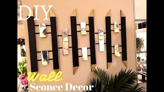 Diy Wall Sconce Home Decor Using Boxes!!!